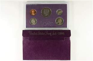1986 US PROOF SET (WITH BOX)