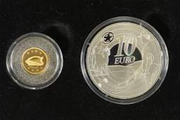 2009 IRELAND GOLD  SILVER 2 COIN PROOF SET  THE