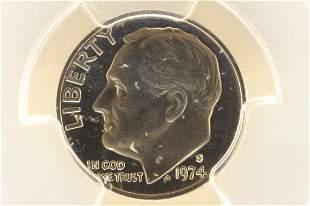 1974-S ROOSEVELT DIME PCGS PR67