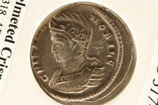 317-326 A.D. CRISPUS ANCIENT COIN EXTRA FINE