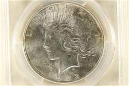 1922 PEACE SILVER DOLLAR PCGS MS62