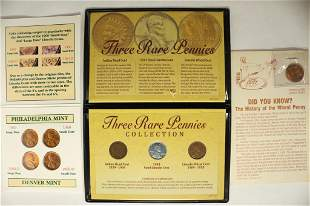 3 US COIN SETS #1-FOUR MAJOR VARIETIES OF 1960