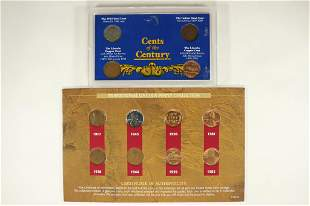 2 US COIN SETS #1 CENTS OF THE CENTURY: