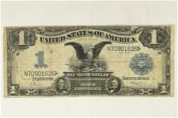 1899 LARGE SIZE $1 BLACK EAGLE SILVER CERTIFICATE