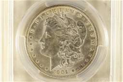 1901O MORGAN SILVER DOLLAR PCGS MS61