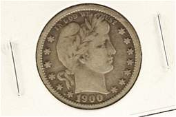 1900-S BARBER QUARTER VERY FINE