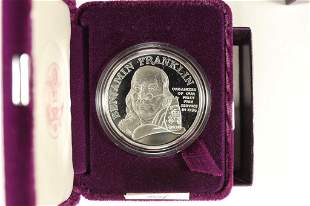 BEN FRANKLIN FIRE FIGHTERS PROOF SILVER MEDAL