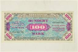 1946 GERMAN MILITARY PAYMENT CERTIFICATE 100 MARK