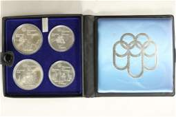 1973 CANADA FOUR COIN OLYMPIC SET, 2-$5 &