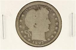 1897-S BARBER QUARTER (GOOD)