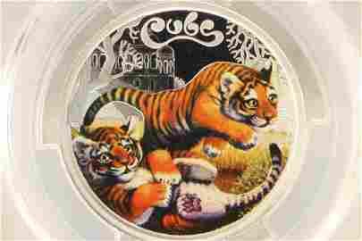 2016-P AUSTRALIA COLORIZED TIGER CUBS 50 CENT