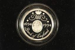 1994 SILVER PROOF PIEDFORT 2-POUND COIN