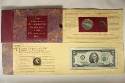 1993 THOMAS JEFFERSON COINAGE & CURRENCY SET