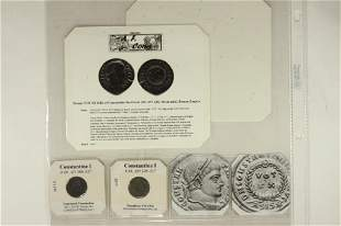 2-306-337 A.D. CONSTANTINE I COINS WITH INFO CARDS