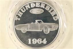 1964 FORD THUNDERBIRD 1 TROY OZ .999 FINE SILVER