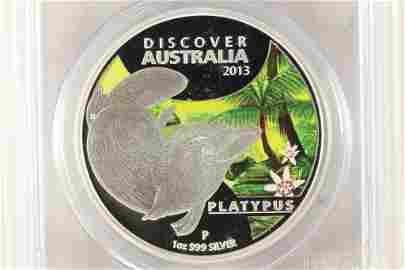 2013-P AUSTRALIAN DUCK-BILLED PLATYPUS SILVER