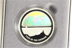 2002 AUSTRALIA SILVER PROOF $5 WITH HOLOGRAM