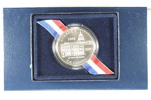 2001 CAPITOL VISITOR CENTER UNC SILVER DOLLAR