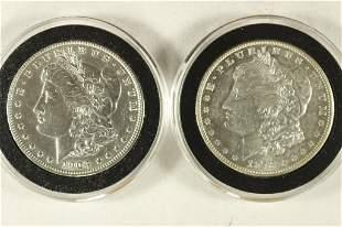1878-S & 1903-P MORGAN SILVER DOLLARS BOTH AU/BU