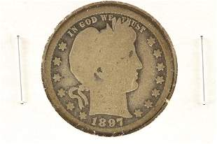 1897-O BARBER QUARTER (SEMI-KEY)