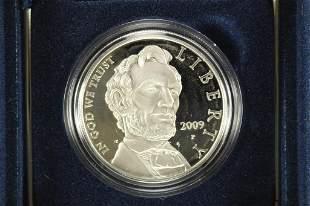 2009 ABRAHAM LINCOLN COMMEMORATIVE PF SILVER