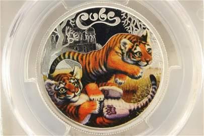 2016-P AUSTRALIA (TUVALU) COLORIZED TIGER CUBS
