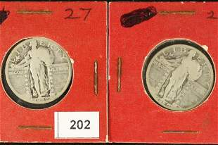 1927 & 1929 STANDING LIBERTY QUARTERS