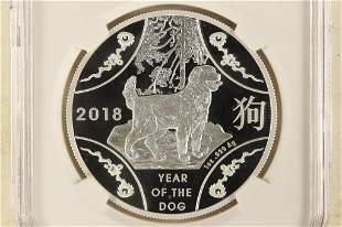 2018 AUSTRALIA YEAR OF THE DOG SILVER DOLLAR