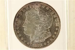 1881-S MORGAN SILVER DOLLAR ANACS MS65