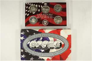 2005 SILVER US 50 STATE QUARTERS PROOF SET