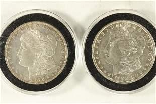 1878-P & 1900-O MORGAN SILVER DOLLARS BOTH XF/AU