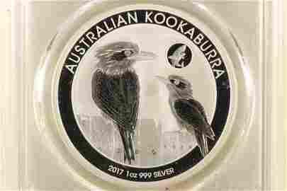 2017-P AUSTRALIA KOOKABURRA 1 OZ SILVER DOLLAR