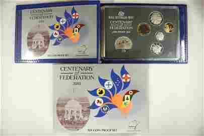 2001 AUSTRALIA CENTENARY OF FEDERATION 6 COIN