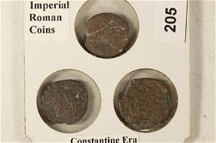 3-IMPERIAL ANCIENT ROMAN COINS OF THE CONSTANTINE
