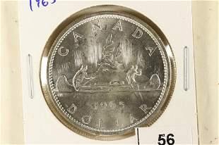 1965 CANADA SILVER DOLLAR BRILLIANT UNC