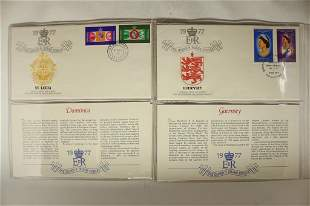 4 ASSORTED 1977 1ST DAY COVERS WITH INFO