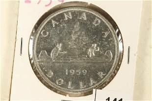 1959 CANADA SILVER DOLLAR BRILLIANT UNC
