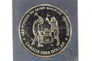 1988 CANADA IRONWORKS SILVER DOLLAR