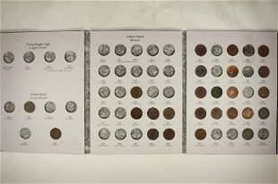 1857-1909 FLYING EAGLE & INDIAN HEAD CENT ALBUM