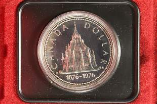 1976 CANADA LIBRARY OF PARLIAMENT PROOF SILVER