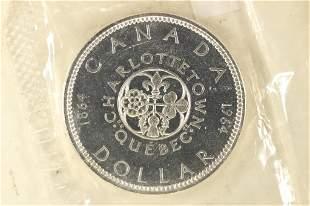1964 CANADA CHARLOTTETOWN BRILLIANT UNC SILVER