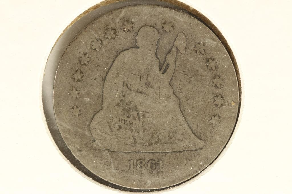1861 SEATED LIBERTY QUARTER