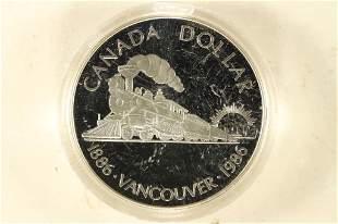 1986 CANADA VANCOUVER PROOF SILVER DOLLAR