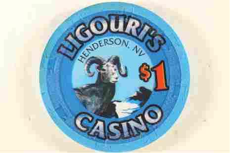 LIGOURI'S CASINO $1 CHIP HENDERSON, NEVADA