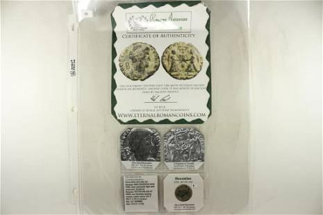351-353 A.D. DECENTIUS ANCIENT COIN (FINE)