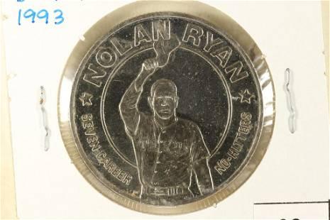 "1993 LIBERIA ""NOLAN RYAN"" DOLLAR BRILLIANT UNC"
