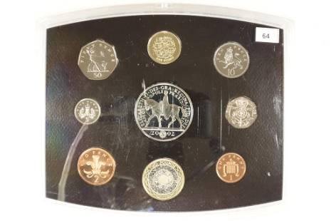 2002 UNITED KINGDOM 9 COIN PROOF SET