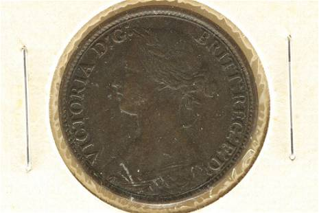 1861 GREAT BRITAIN FARTHING EXTRA FINE+