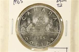 1965 BLUNT 2 CANADA SILVER DOLLAR BRILLIANT UNC