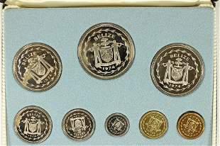 1974 BELIZE 8 COIN PROOF SET